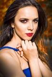 Closeup portrait of beautiful young girl Stock Photos