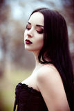 Closeup portrait of beautiful young goth girl Stock Image