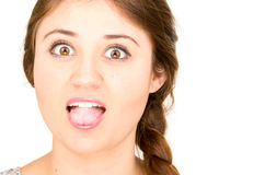 Closeup portrait of beautiful young hispanic woman Stock Photo