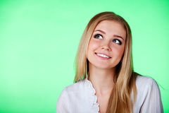 Closeup portrait of a beautiful young lady Royalty Free Stock Images