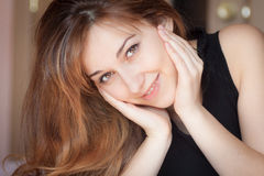 Closeup portrait of a young lady. Royalty Free Stock Photo