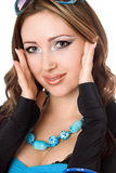 Closeup portrait of beautiful young woman Royalty Free Stock Photo