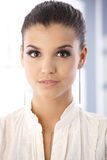 Closeup portrait of beautiful young woman Royalty Free Stock Image