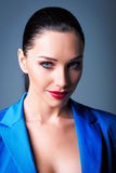 Closeup portrait of beautiful young woman Stock Photos