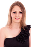 Closeup portrait of a beautiful young woman Royalty Free Stock Photo