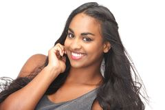 Closeup portrait of a beautiful young woman smiling Royalty Free Stock Image