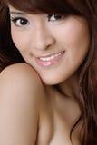 Closeup portrait of beauty Stock Images
