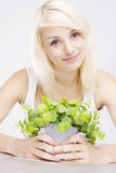 Closeup portrait of a beauty blonde Royalty Free Stock Photos