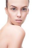 Closeup portrait of beauty woman Royalty Free Stock Image
