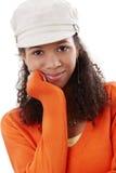 Closeup portrait of black beauty Royalty Free Stock Photo