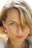Closeup portrait of blond girl Royalty Free Stock Photos