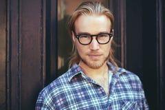 Closeup portrait of blond man Royalty Free Stock Image