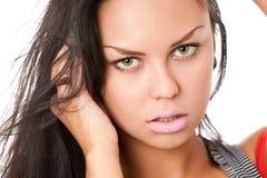 Closeup portrait of brunette Royalty Free Stock Image