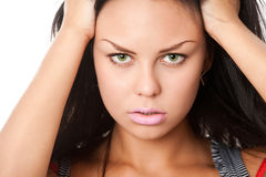 Closeup portrait of brunette Stock Image