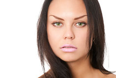 Closeup portrait of brunette Royalty Free Stock Photography