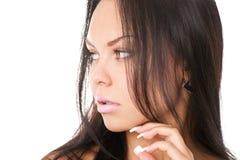 Closeup portrait of brunette Stock Photo