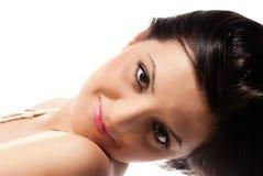 Closeup portrait brunette Royalty Free Stock Photos