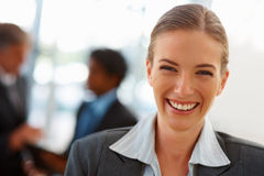 Closeup portrait of a business woman smiling Royalty Free Stock Photo