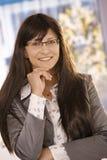 Closeup portrait of businesswoman smiling Stock Image