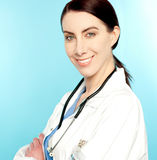 Closeup portrait of charming female doctor Royalty Free Stock Image