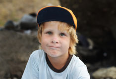 Closeup portrait of cheerful little boy Royalty Free Stock Photography