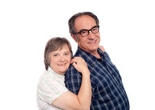 Closeup portrait of cheerful senior couple Stock Photography