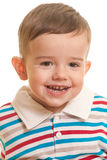 Closeup portrait of a cheerful toddler Stock Image