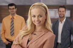 Closeup portrait of confident businesswoman Royalty Free Stock Images