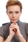 Closeup portrait of confident young businesswoman Royalty Free Stock Image