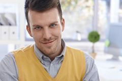 Closeup portrait of confident young man smiling Royalty Free Stock Photo