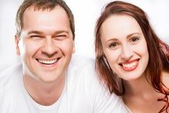 Closeup portrait of a couple Stock Images