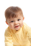 Closeup portrait of crawling baby boy Stock Images
