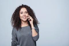 Closeup portrait of curly female Stock Photo