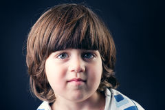 Closeup portrait of a cute adorable little kid smiling Stock Images