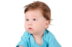 Closeup portrait of a cute baby Royalty Free Stock Photography