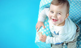 Closeup portrait of a cute litle boy Royalty Free Stock Photography