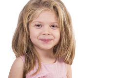 Closeup portrait of a cute little girl Royalty Free Stock Photo