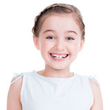 Closeup portrait of a cute little girl. Royalty Free Stock Photos