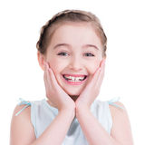 Closeup portrait of a cute little girl. Royalty Free Stock Photography