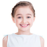 Closeup portrait of a cute little girl. Stock Photo