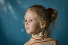 Closeup portrait of cute little girl smiling Royalty Free Stock Photo