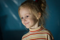Closeup portrait of cute little girl smiling Royalty Free Stock Photography