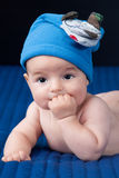 Closeup portrait of cute smiling baby boy Stock Photo