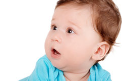 Closeup portrait of a cute smiling baby Stock Photos