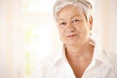 Closeup portrait of elderly woman Royalty Free Stock Image