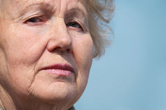 Closeup portrait of elderly woman Stock Image