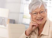 Closeup portrait of elderly woman Stock Photography