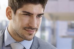 Closeup portrait of elegant businessman Stock Photos