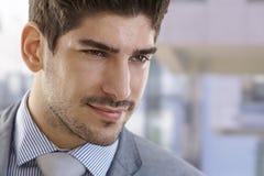 Closeup portrait of elegant businessman Stock Photos