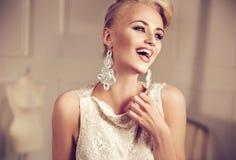 Closeup portrait of an elegant, smiling woman Stock Photography